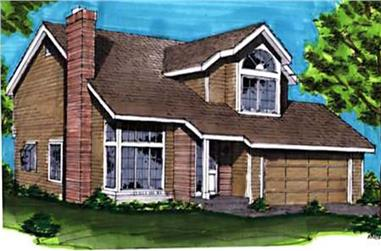 3-Bedroom, 1404 Sq Ft Ranch House Plan - 146-1463 - Front Exterior