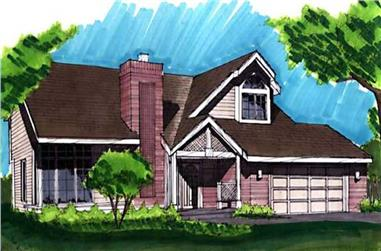 3-Bedroom, 2054 Sq Ft Ranch House Plan - 146-1469 - Front Exterior