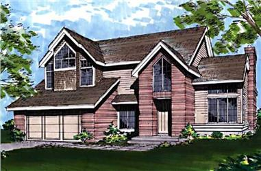 3-Bedroom, 2280 Sq Ft Ranch House Plan - 146-1471 - Front Exterior