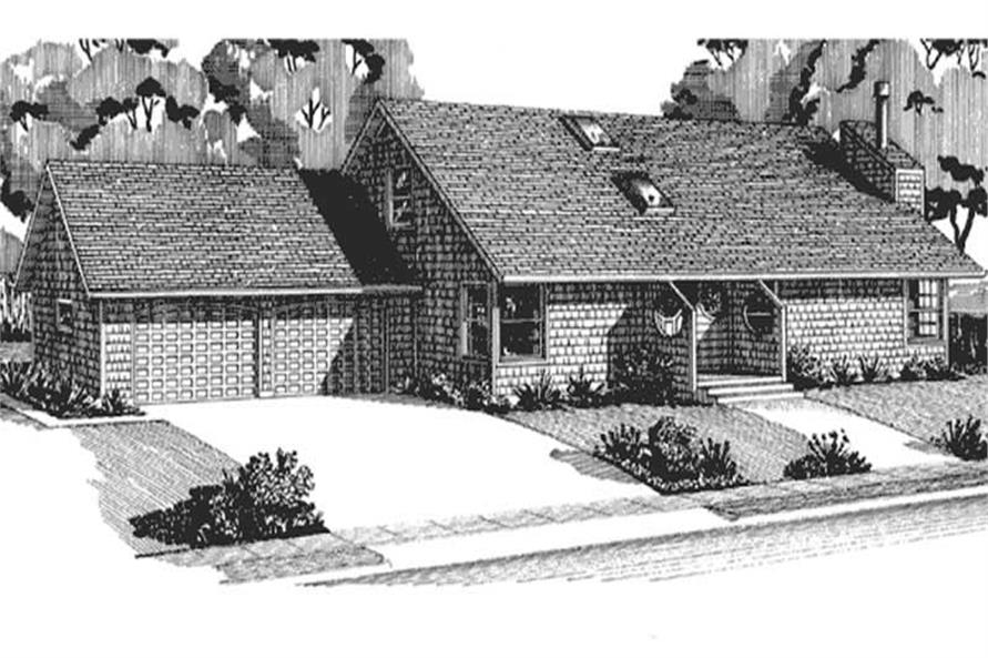 Front View of this house design