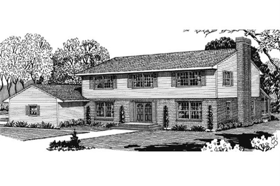 Front View of this house design.