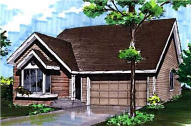 2-Bedroom, 1100 Sq Ft Ranch House Plan - 146-1480 - Front Exterior