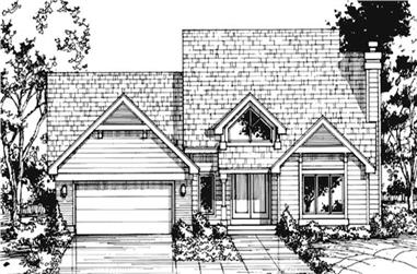 3-Bedroom, 2436 Sq Ft Cape Cod House Plan - 146-1482 - Front Exterior