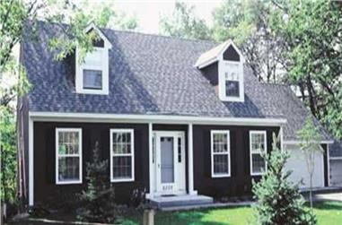 4-Bedroom, 2143 Sq Ft Cape Cod House Plan - 146-1484 - Front Exterior
