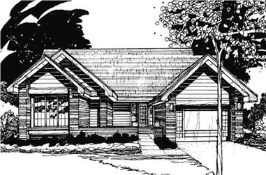 2-Bedroom, 1640 Sq Ft Ranch House Plan - 146-1489 - Front Exterior