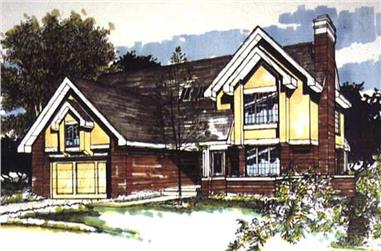 3-Bedroom, 2590 Sq Ft Colonial House Plan - 146-1493 - Front Exterior