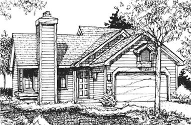 2-Bedroom, 1020 Sq Ft Ranch House Plan - 146-1499 - Front Exterior