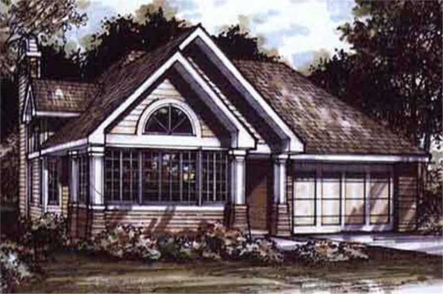 1-Bedroom, 1421 Sq Ft Bungalow House Plan - 146-1504 - Front Exterior