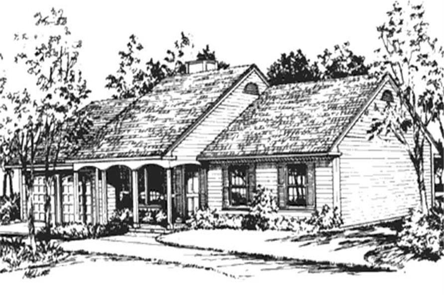 Front View of this houseplan