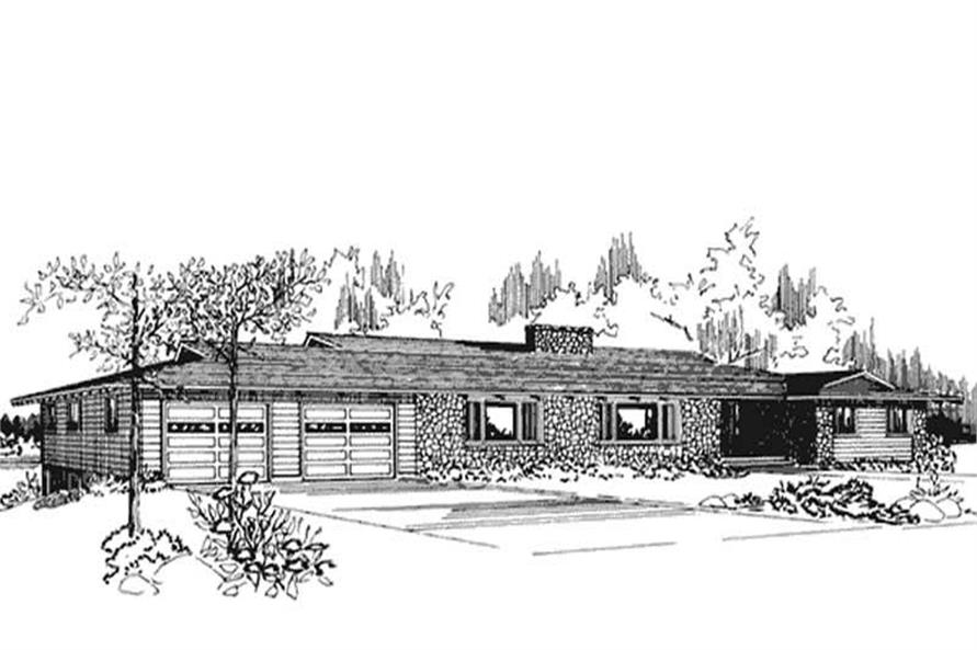 Front View of this set of house plans