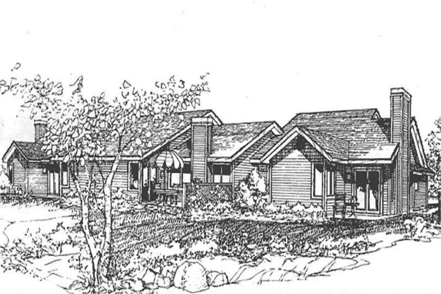This image shows the Multi-Unit/Ranch Style of this set of house plans.