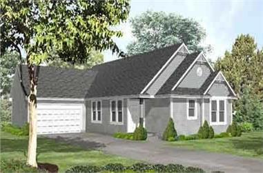 2-Bedroom, 1745 Sq Ft Country House Plan - 146-1515 - Front Exterior