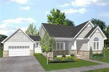 3-Bedroom, 1853 Sq Ft Craftsman Home Plan - 146-1522 - Main Exterior