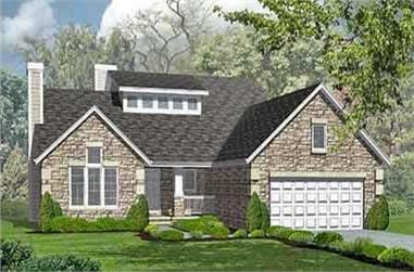 3-Bedroom, 2027 Sq Ft Ranch House Plan - 146-1525 - Front Exterior