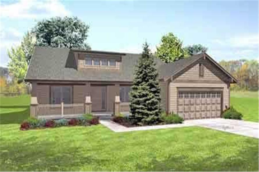3-Bedroom, 1910 Sq Ft Ranch House Plan - 146-1532 - Front Exterior