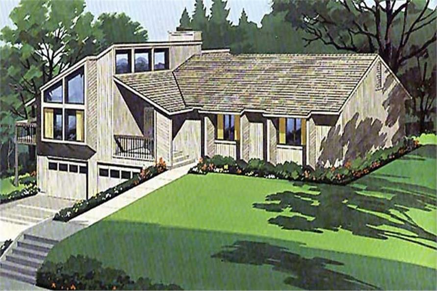 4-Bedroom, 2735 Sq Ft Contemporary House Plan - 146-1537 - Front Exterior