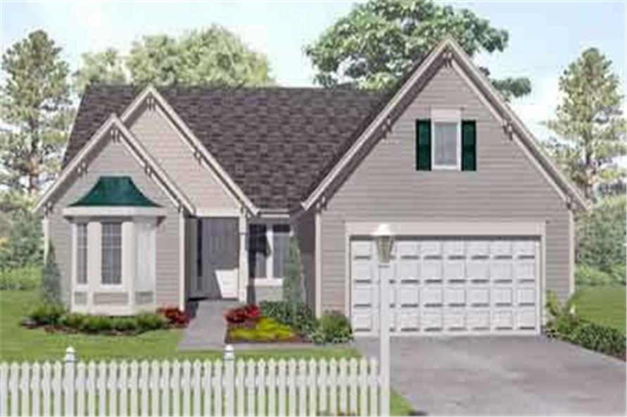 3-Bedroom, 1913 Sq Ft Country House Plan - 146-1541 - Front Exterior