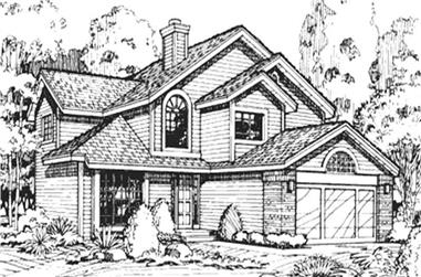 4-Bedroom, 2176 Sq Ft Country Home Plan - 146-1546 - Main Exterior
