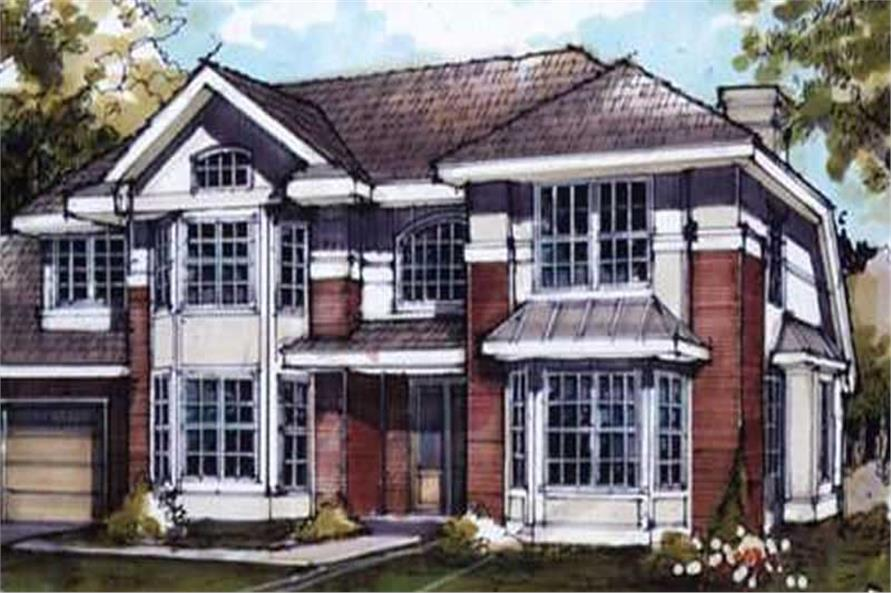 4-Bedroom, 3007 Sq Ft Country Home Plan - 146-1547 - Main Exterior