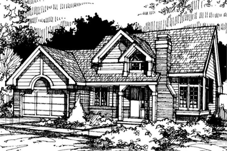 Country Home Plans LS-B-89057 Front Elevation.