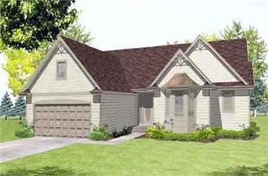 3-Bedroom, 1752 Sq Ft Ranch House Plan - 146-1551 - Front Exterior