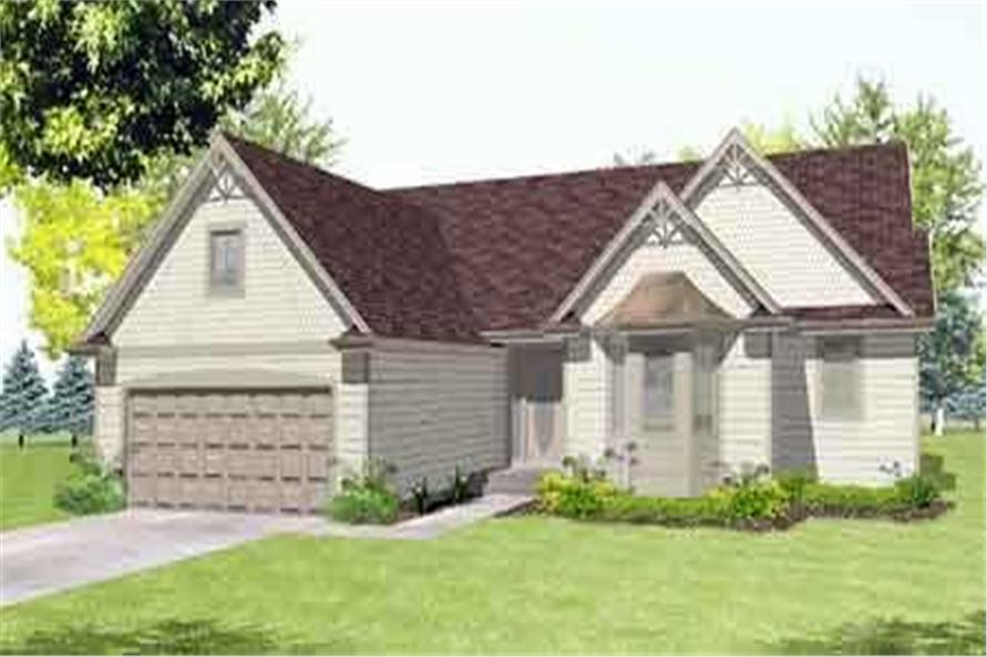 Color Rendering to house plan LS-22029-BPS
