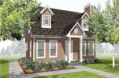 3-Bedroom, 1260 Sq Ft Colonial House Plan - 146-1570 - Front Exterior