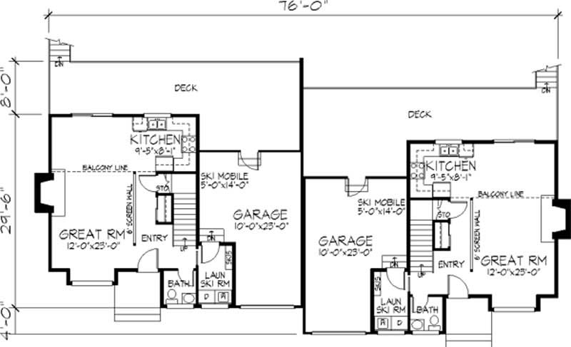 Multi unit house plans home design ls h 6102 b2 for Multi unit house plans