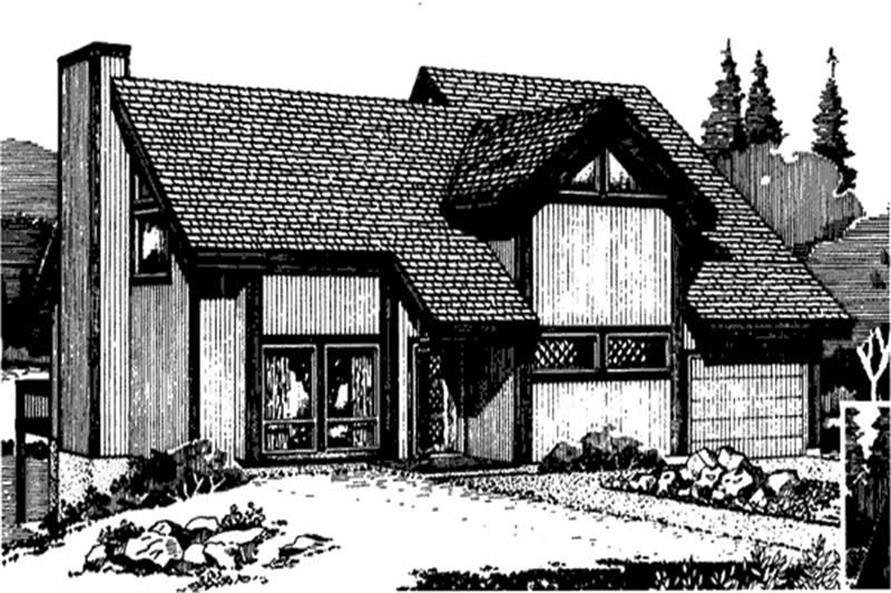 Front View of home plan LS-H-9532-A
