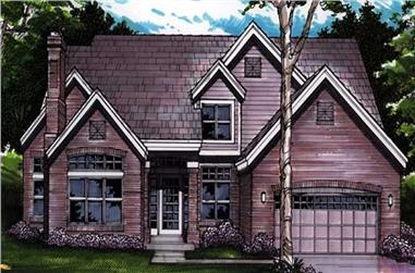 4-Bedroom, 2565 Sq Ft Cape Cod House Plan - 146-1584 - Front Exterior
