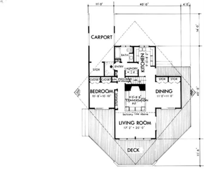 house floor plans first story - Cross Shaped House Plans