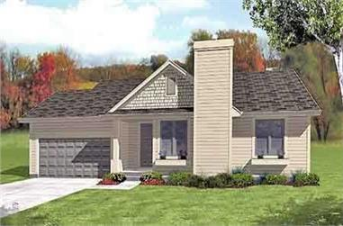 3-Bedroom, 1465 Sq Ft Ranch House Plan - 146-1587 - Front Exterior