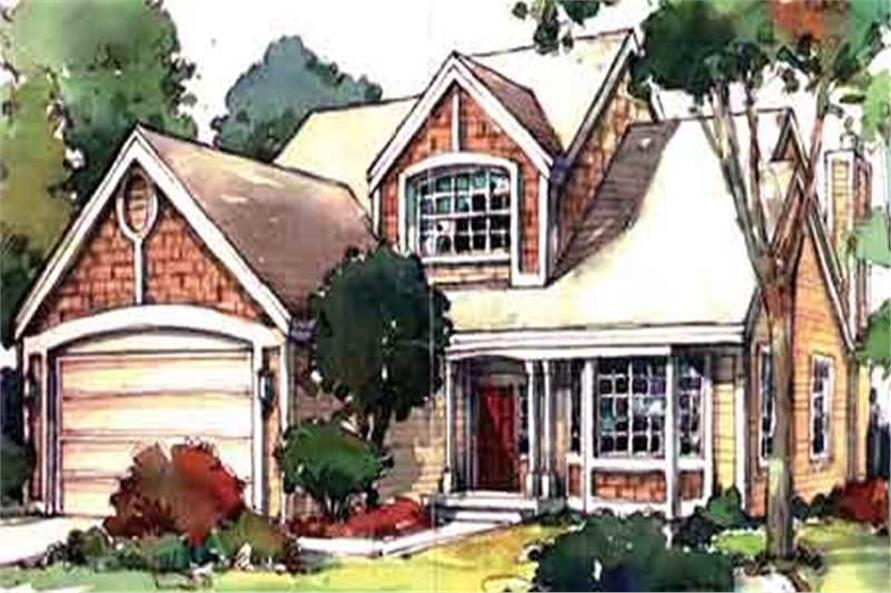 2-Bedroom, 2257 Sq Ft Cape Cod Home Plan - 146-1588 - Main Exterior
