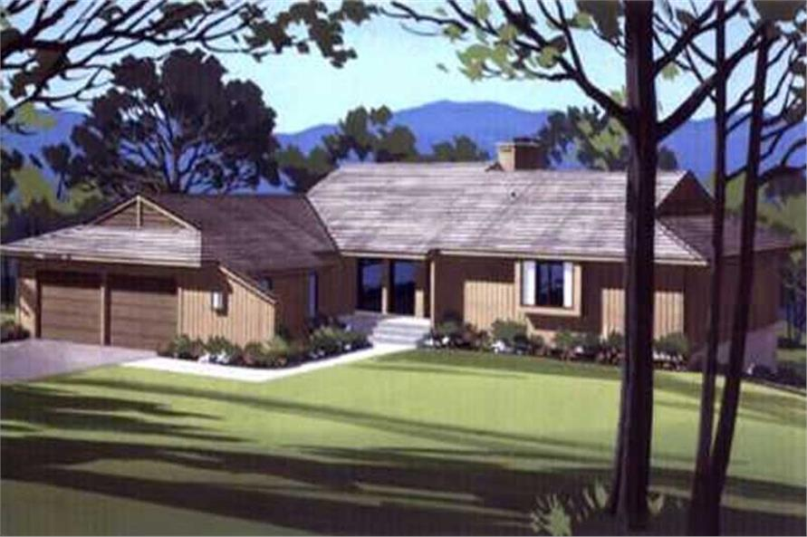 3-Bedroom, 1349 Sq Ft Small House Plans - 146-1589 - Front Exterior