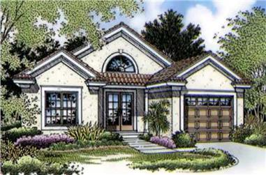 2-Bedroom, 1042 Sq Ft Small House Plans - 146-1591 - Main Exterior