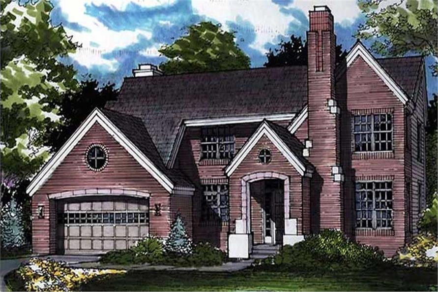 European House Plans LS-B-91027 front elevation.