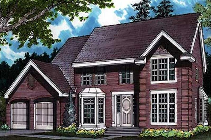 Country Home Plans LS-B-91021 colored front elevation.