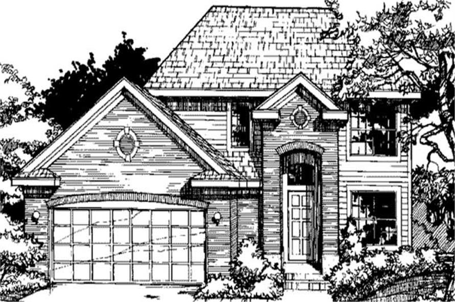 Front Elevation for European Homeplans LS-B-91030.