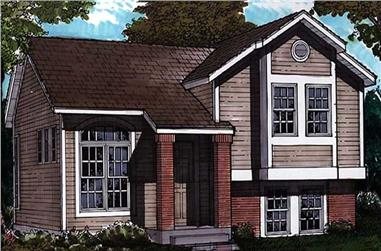 3-Bedroom, 992 Sq Ft Country Home Plan - 146-1602 - Main Exterior