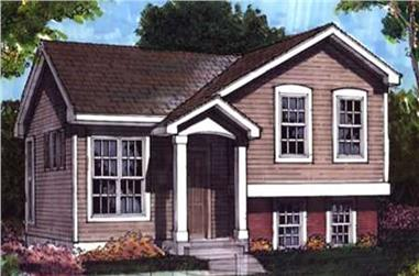 3-Bedroom, 992 Sq Ft Country Home Plan - 146-1604 - Main Exterior