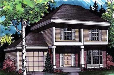 3-Bedroom, 1300 Sq Ft European Home Plan - 146-1605 - Main Exterior
