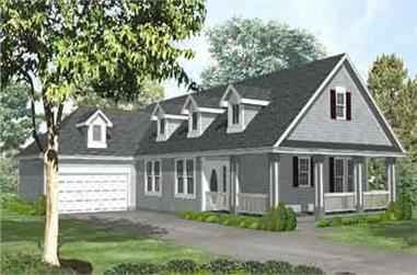2-Bedroom, 1745 Sq Ft Country Home Plan - 146-1606 - Main Exterior