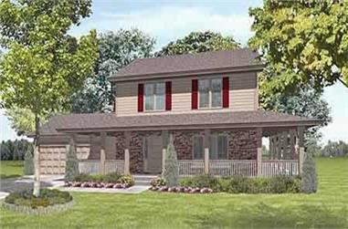 3-Bedroom, 1915 Sq Ft Craftsman House Plan - 146-1607 - Front Exterior