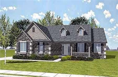 3-Bedroom, 1951 Sq Ft Craftsman Home Plan - 146-1608 - Main Exterior