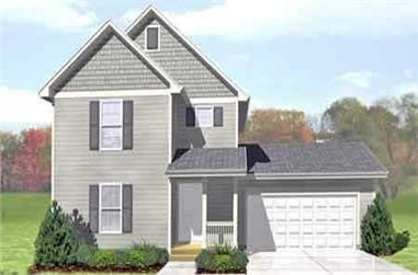 3-Bedroom, 1277 Sq Ft Country Home Plan - 146-1609 - Main Exterior