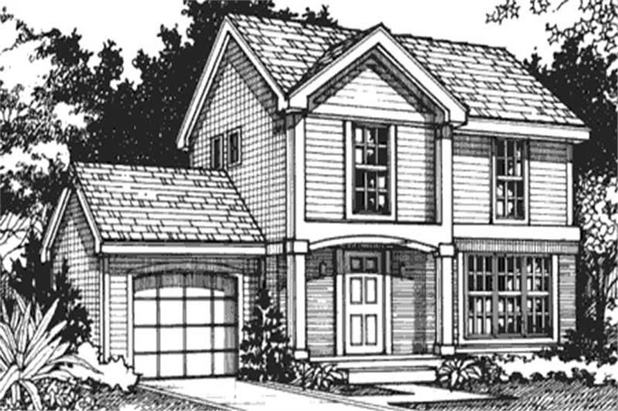 Country House Plans LS-B-92007 Front elevation.