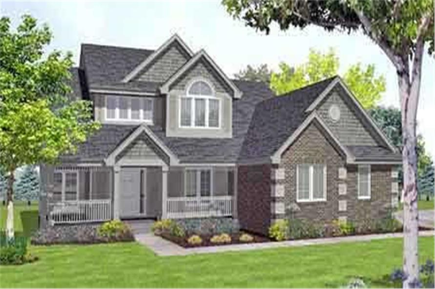 3-Bedroom, 2150 Sq Ft Country House Plan - 146-1615 - Front Exterior