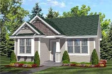 2-Bedroom, 936 Sq Ft Craftsman Home Plan - 146-1616 - Main Exterior