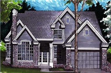 4-Bedroom, 2565 Sq Ft Cape Cod House Plan - 146-1617 - Front Exterior