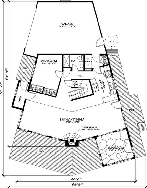 Passive solar house plan 146 1618 3102 sq ft home plan for Passive solar home designs floor plans